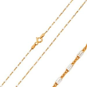 Jewelry - Rose Gold Plated 2 Toned DC Tube Link 030 Chain